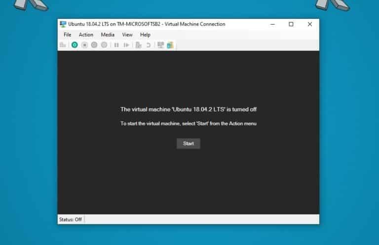 Start Ubuntu hyper-V VM