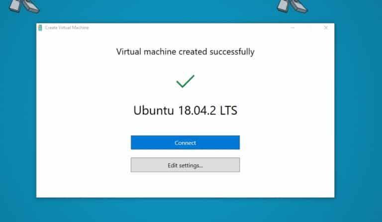 Ubuntu 18.04 LTS Hyper-V VM