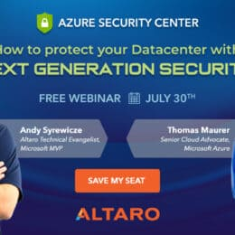 Altaro Azure Security Center Webinar