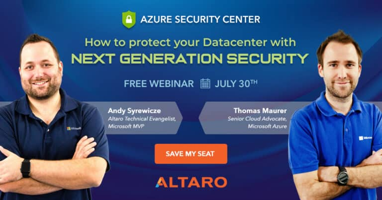 Altaro Azure Security Center Webinar