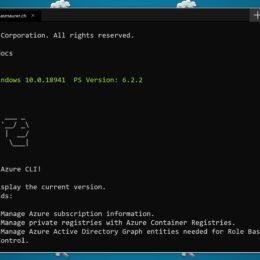 Azure CLI Windows Terminal PowerShell