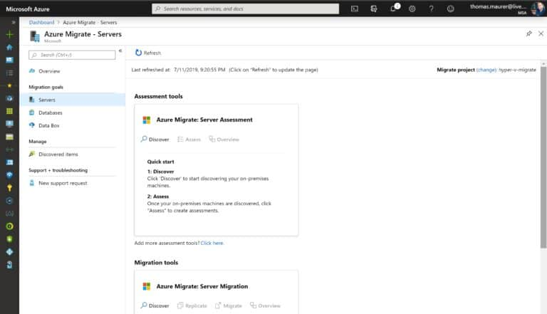 Azure Migrate Servers