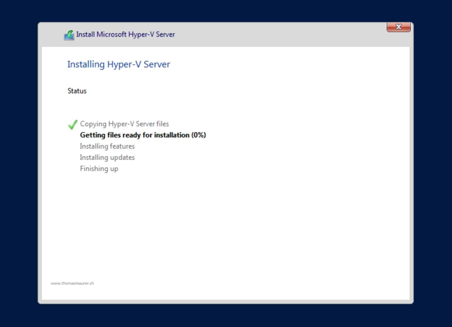 How to Install Hyper-V Server 2019 - Thomas Maurer