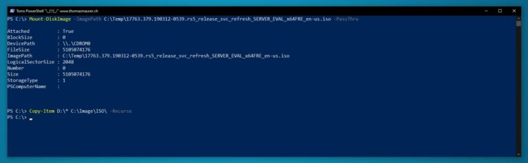 Mount ISO PowerShell