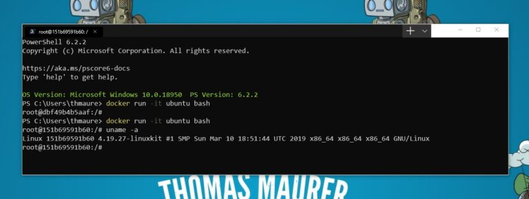 Run Linux Containers with Docker Desktop and WSL 2 - Thomas Maurer