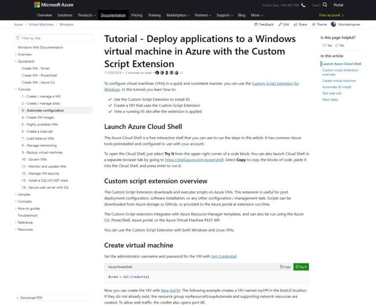 Microsoft Docs Azure