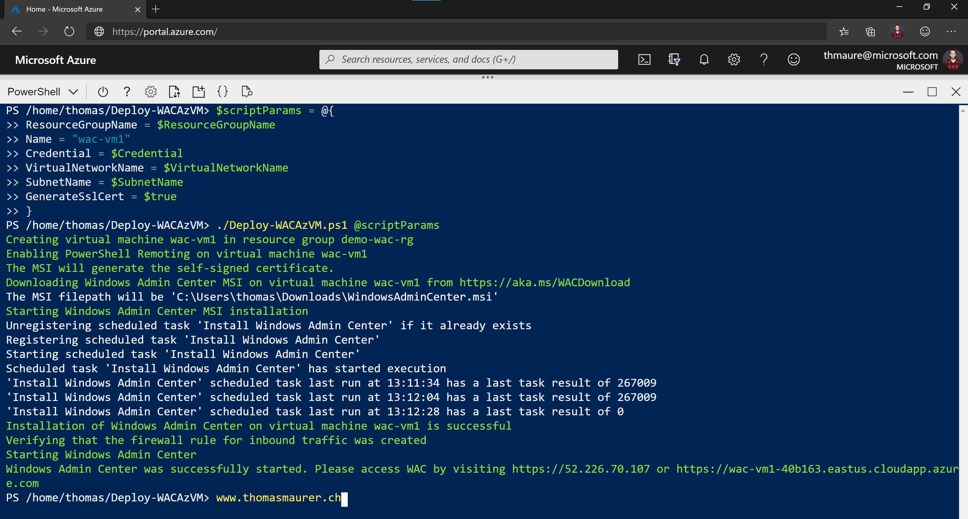 Deploy and Configure Windows Admin Center in Azure VM
