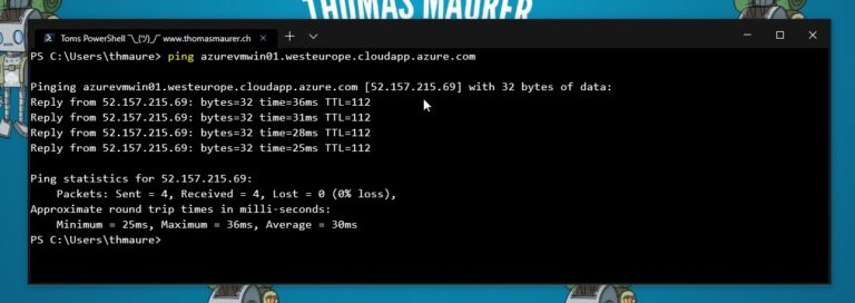 Ping Azure VM Public IP address