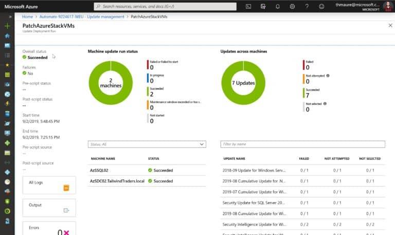 Update Azure VMs Status