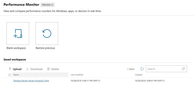 Upload and Download Workspaces