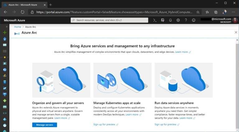 Azure Arc Portal