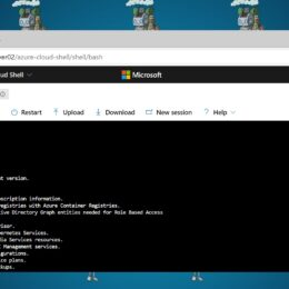 Azure Cloud Shell in Windows Admin Center