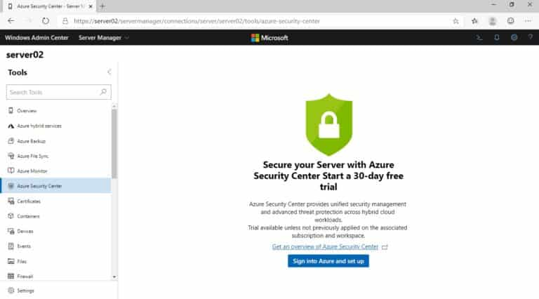 Secure your Server with Azure Security Center