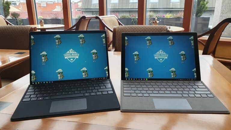 Surface Pro X and Surface Pro 7