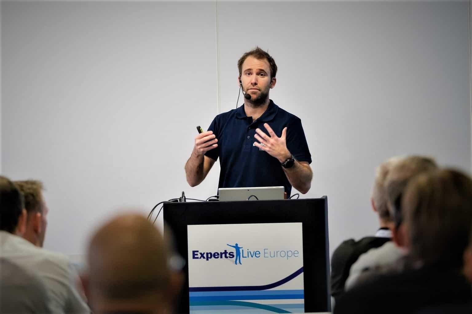 Thomas Maurer Speaking at Experts Live Europe 2019