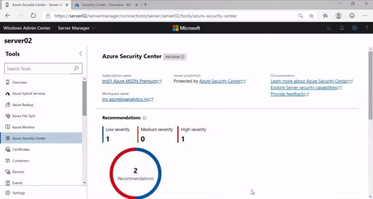 Azure Security Center Recommendations