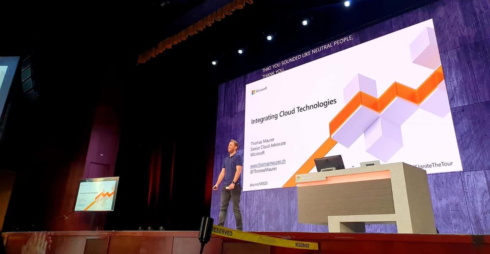 Thomas Maurer at Microsoft Ignite