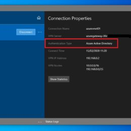 Azure VPN Azure Active Directory authentication