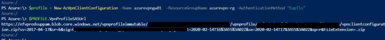 Download AzureVPN Configuration XML