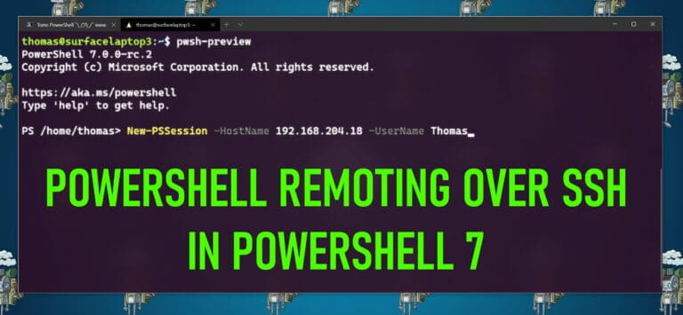 PowerShell Remoting over SSH in PowerShell 7