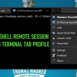 Add a PowerShell Remoting Session in the Windows Terminal Menu