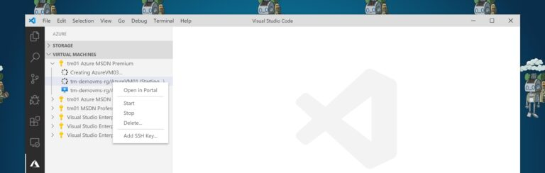 Azure VM management in VS Code