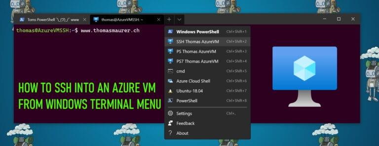 How to SSH into an Azure VM from Windows Terminal Menu