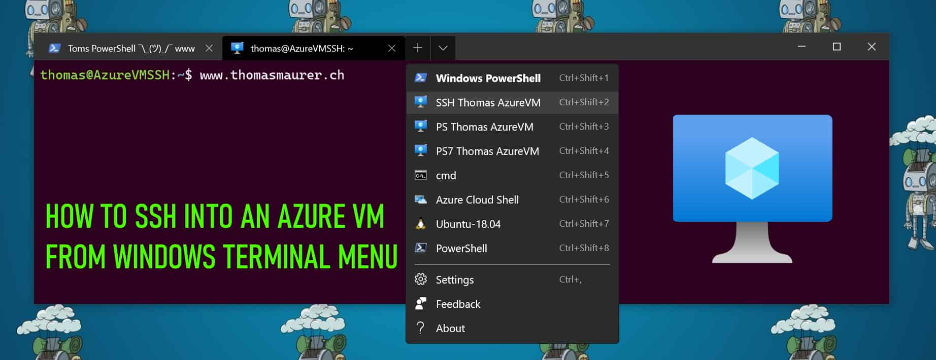 How to SSH into an Azure VM from Windows Terminal Menu