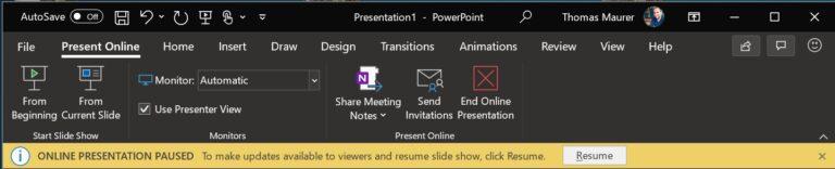 Present Online in PowerPoint