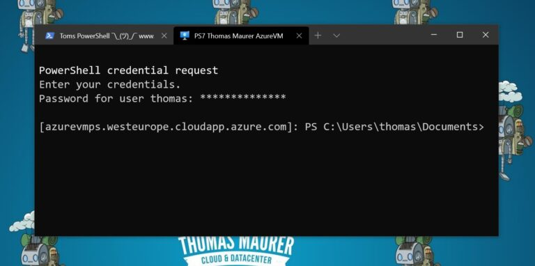 Windows Terminal - Azure virtual machine VM PS Remote Session