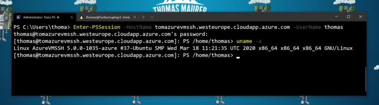 Enter-PSSession using SSH from Windows 10 to Linux