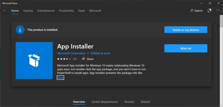 App Installer in the Windows Store