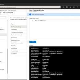 Azure VM Run Command Run PowerShell Script