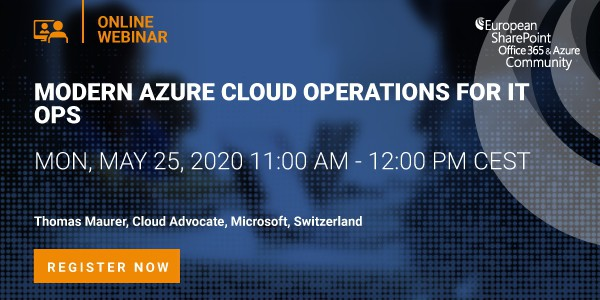 Webinar Modern Azure Cloud Operations for IT Ops