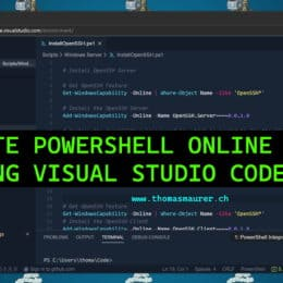 Write PowerShell Code Online in a web browser using Visual Studio Codespaces
