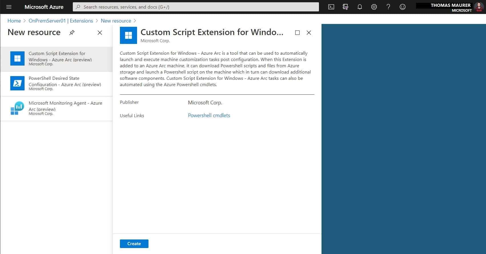 Add Custom Script Extension Azure Arc Server