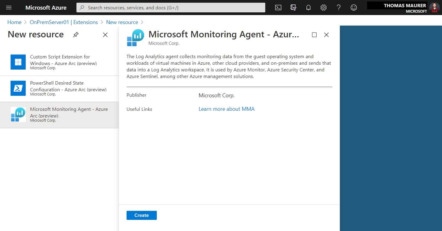 Add Microsoft Monitoring Agent Extension