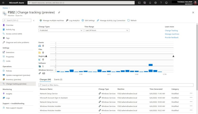 Azure Arc Server Change Tracking