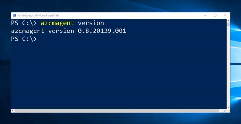 Azure Connected Machine Agent azcmagent Version
