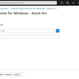 Create Custom Script Extension for Windows - Azure Arc