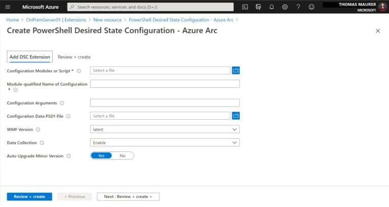Create PowerShell Desired State Configuration - Azure Arc