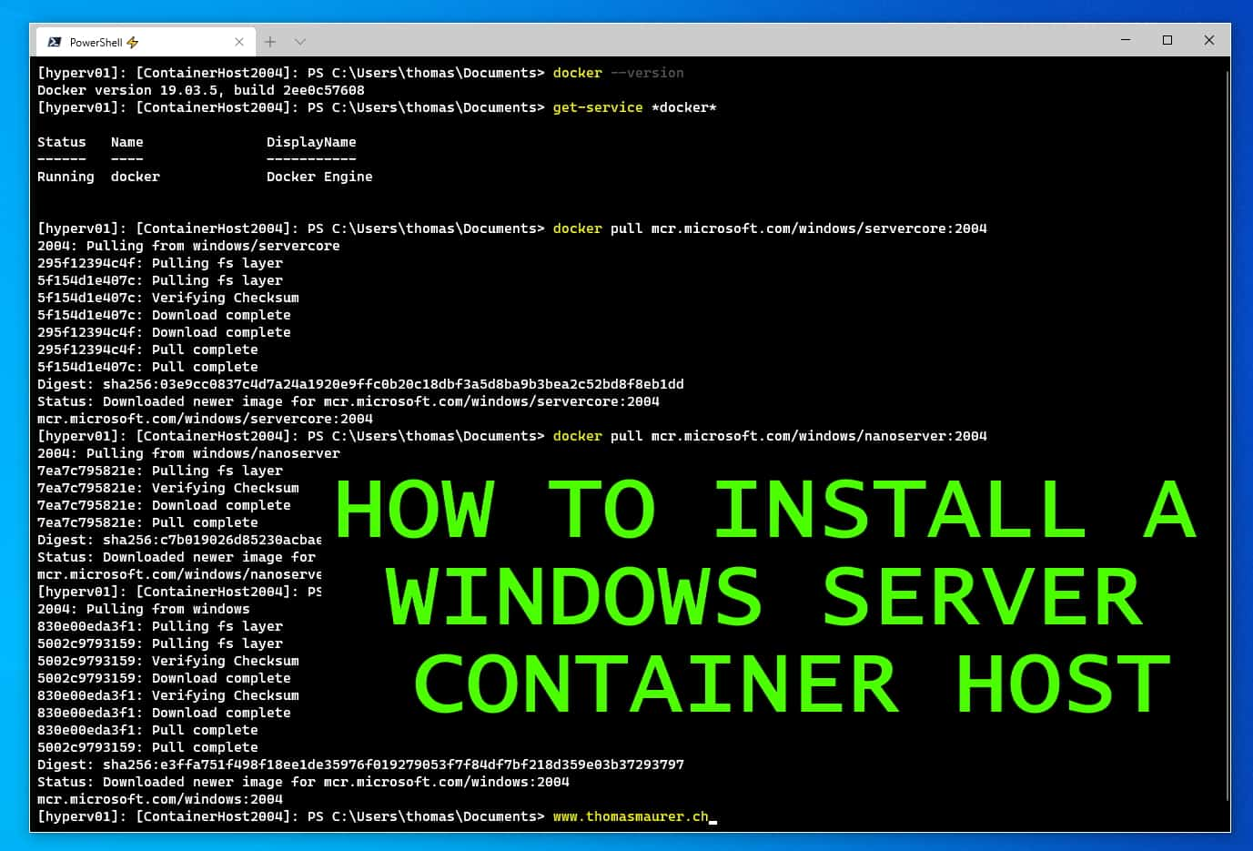 How to Install a Windows Server Container Host