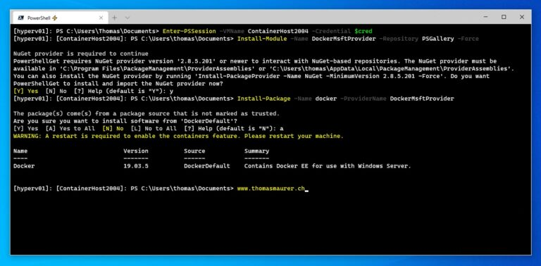 Install Docker on Windows Server