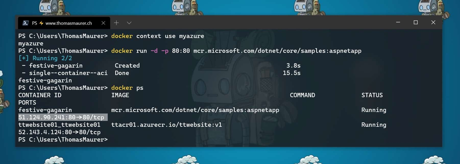Run Azure Container Instances from the Docker CLI