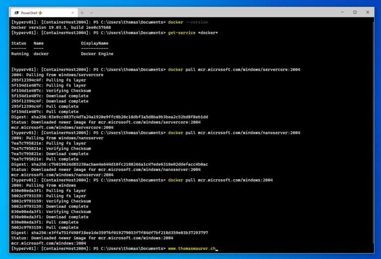 Run Windows Container Docker Images on Windows Server