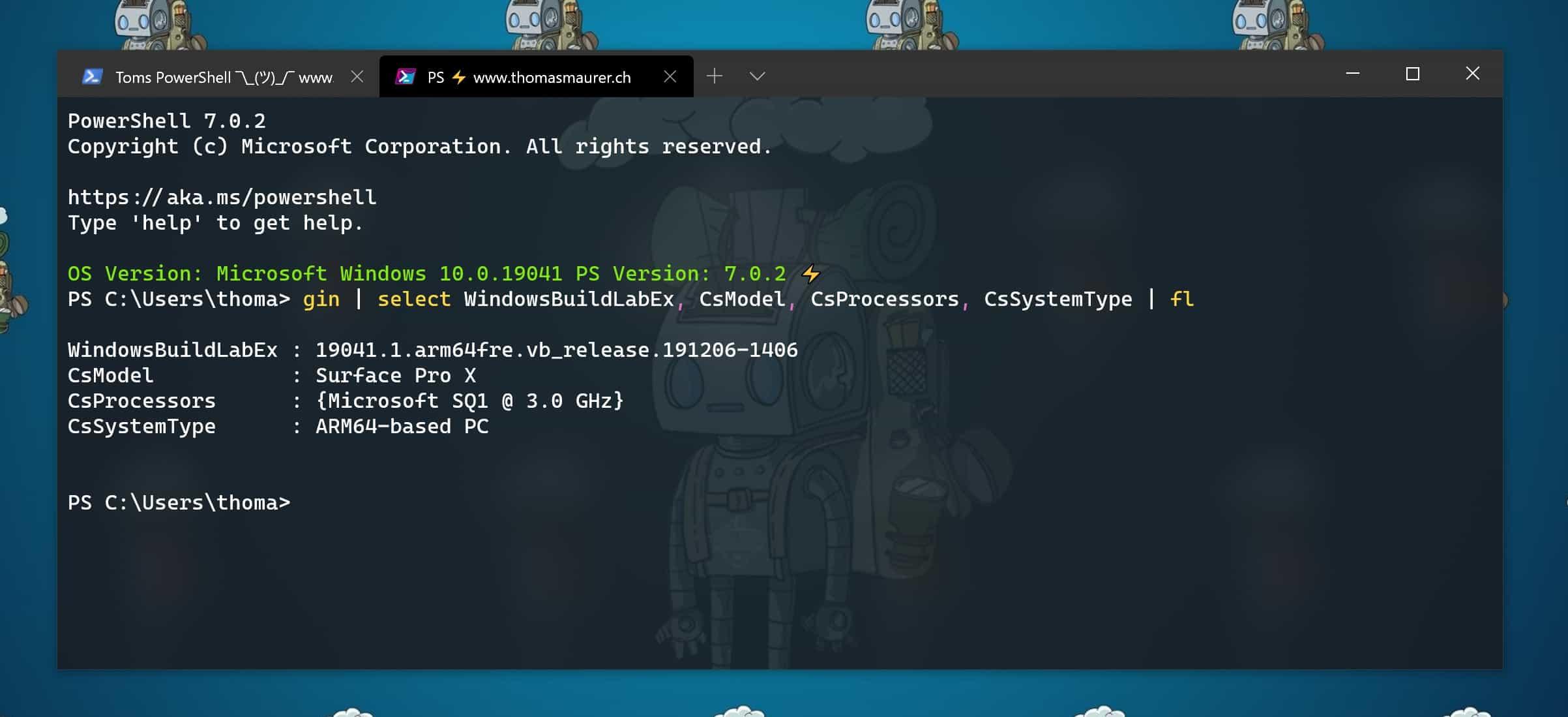 Windows 10 on ARM PowerShell 7 Windows Terminal ARM64