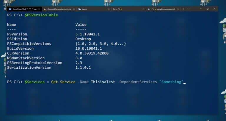Windows PowerShell Tom