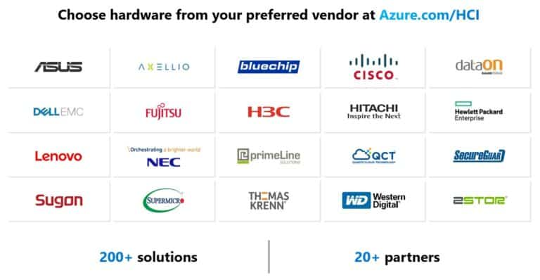 Choose hardware from your preferred vendor