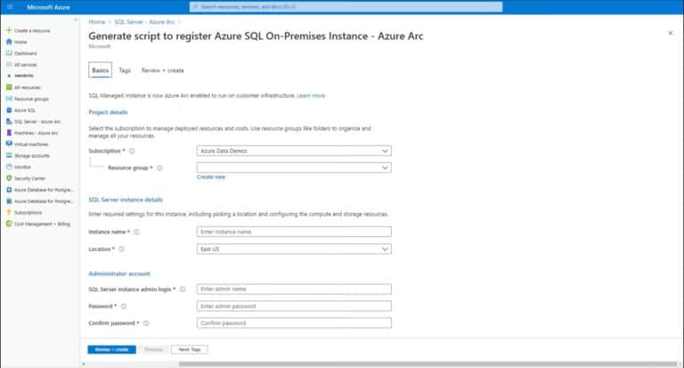 Onboarding SQL Server to Azure Arc
