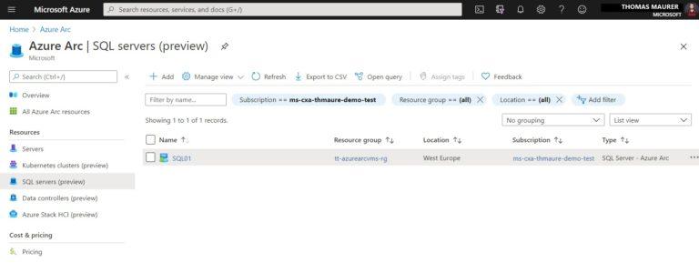 Azure Arc Enabled SQL Servers